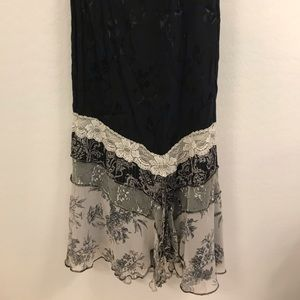 Spencer Alexis Long Black skirt XL